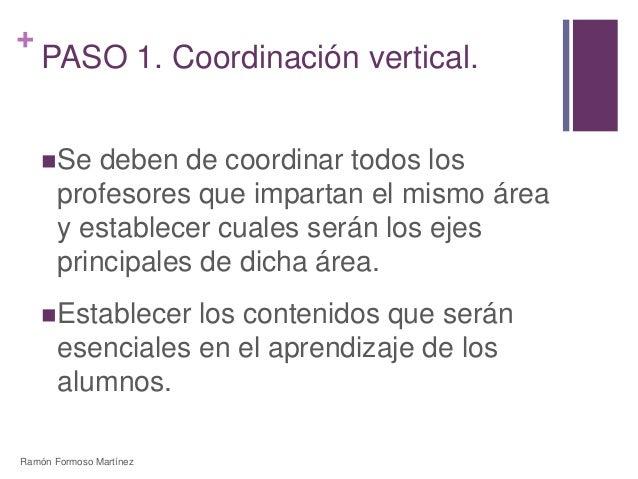 +  PASO 1. Coordinación vertical.  Se deben de coordinar todos los  profesores que impartan el mismo área  y establecer c...