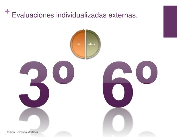 +  Evaluaciones individualizadas externas.  CL CMCT  Ramón Formoso Martínez