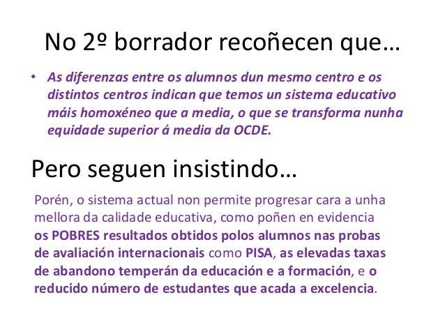 FRAGMENTOS INFORME PISA-2009• En materia de comprensión lectora: El promedio español de  2009 es de 481 puntos, lo que sig...