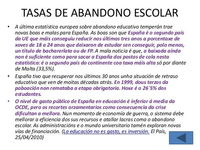 SOBRE A EXCELENCIA• O informe da OCDE demostra que o éxito escolar non  pasa necesariamente por someter ao alumnado a  hor...
