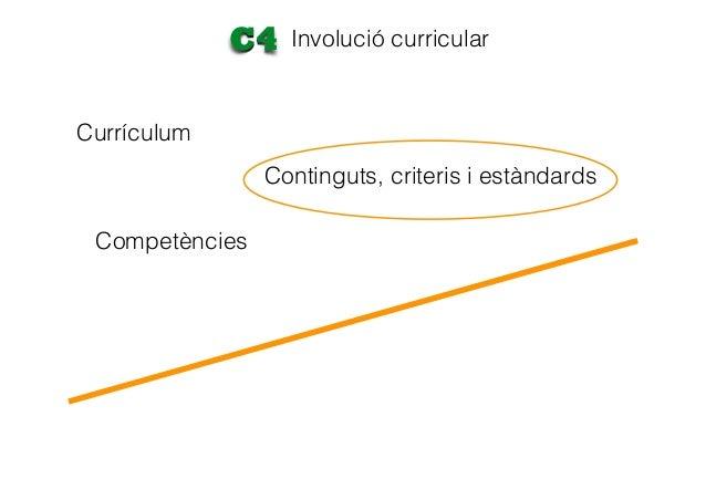 Currículum Involució curricularC4 Competències Assignatures Continguts, criteris i estàndards