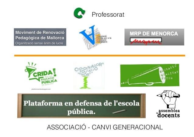 C Professorat ASSOCIACIÓ - CANVI GENERACIONAL