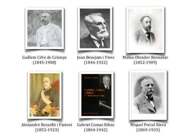 Guillem  Cifre  de  Colonya   (1845-‐1908) Joan  Benejam  i  Vives   (1846-‐1922) Mateu  Obrador  Be...