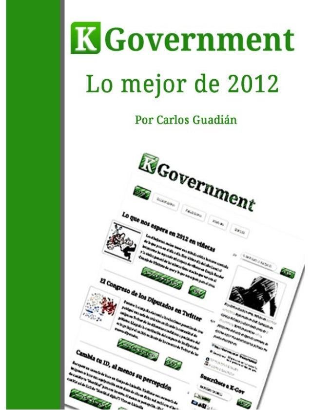 Lo mejor de K- Government en 2012 Carlos Guadián Orta
