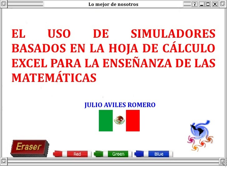 Simulador basado en la hoja de cálculo excel para la enseñanza de las…