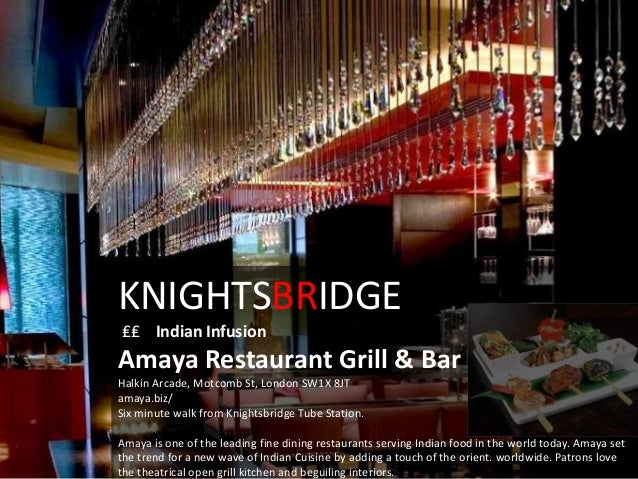 Where to eat in london for Amaya indian cuisine