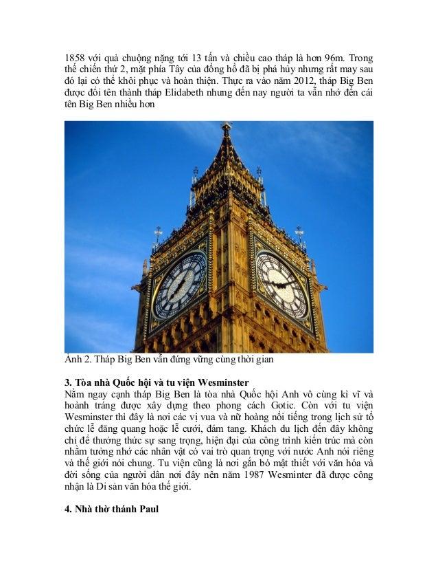 Khám phá thành phố thủ đô London Slide 2