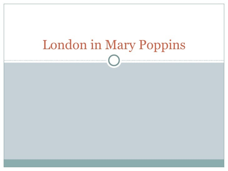 London in Mary Poppins