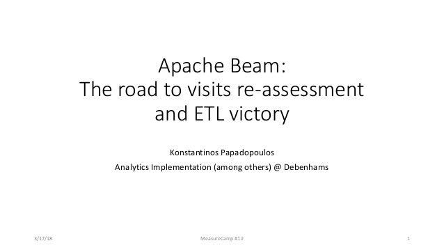 ApacheBeam: Theroadtovisitsre-assessment andETLvictory KonstantinosPapadopoulos AnalyticsImplementation(amongo...