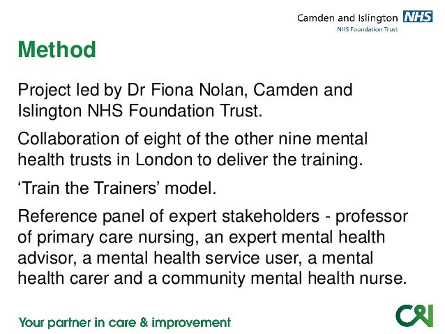 mental health project workout Journal of psychosocial nursing and mental health services  of the  collaborative work enhanced the therapeutic nature of the project.