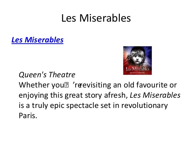 An analysis of the movie les miserables the legend comes to life