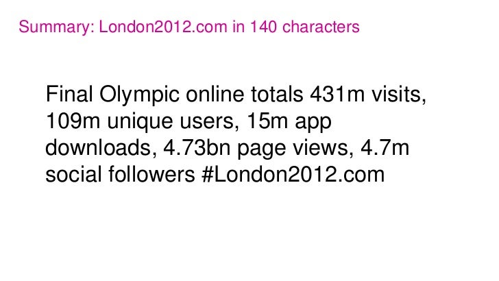London 2012.com Olympic and Paralympic Games digital round up 10 September 2012 Slide 2