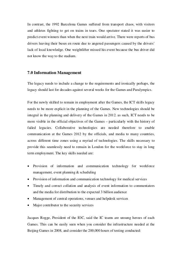 London 2012 case studie. PROYECT MANAGEMENT CASE