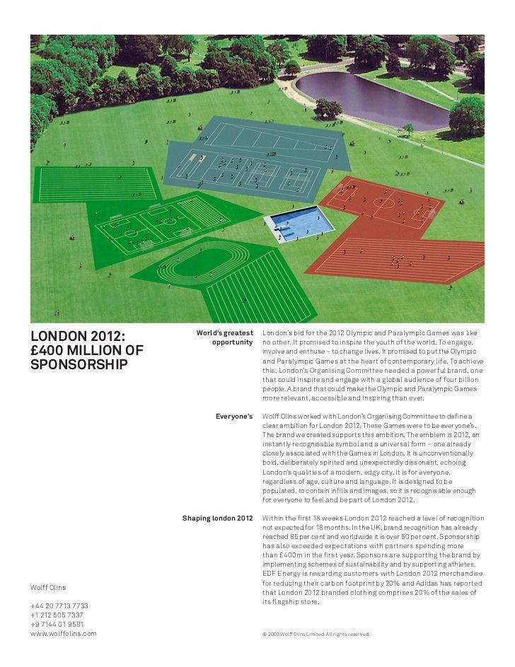 LONDON 2012:            World's greatest                             opportunity                                          ...