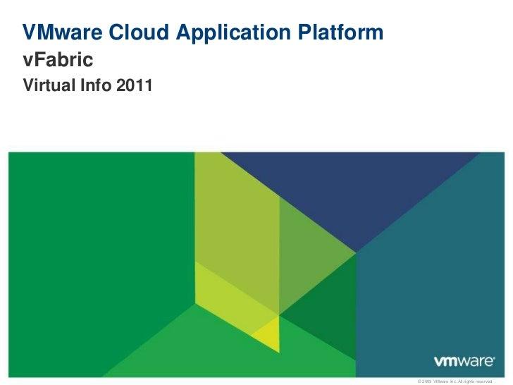 VMware Cloud Application Platform<br />vFabric<br />Virtual Info 2011<br />