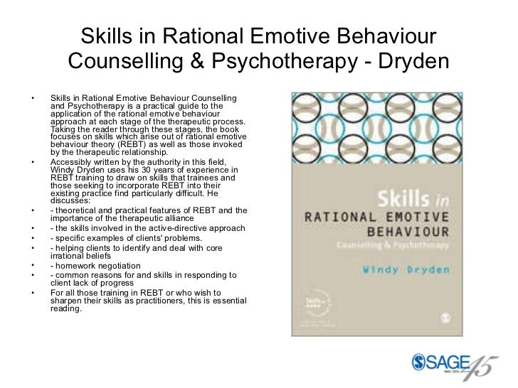 therapeutic approach based on rational emotive Study psychotherapy chapter 10 - cognitive behavior therapy flashcards taken  the founder of rational emotive  the foundation of which therapeutic approach.