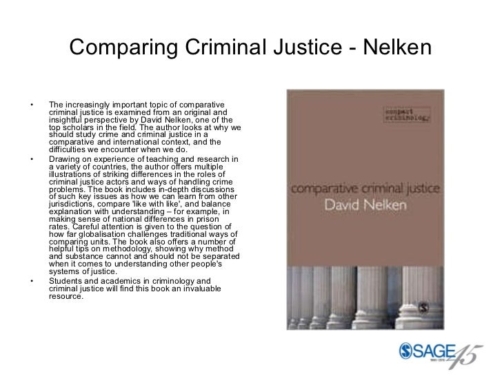 Comparing Criminal Justice - Nelken <ul><li>The increasingly important topic of comparative criminal justice is examined f...