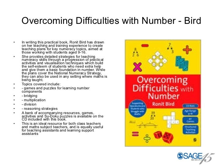 Overcoming Difficulties with Number - Bird <ul><li>In writing this practical book, Ronit Bird has drawn on her teaching an...