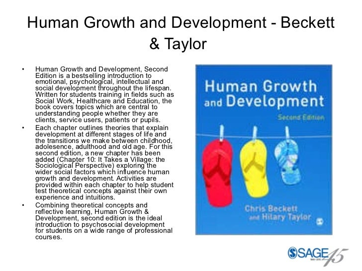 Human Growth and Development - Beckett & Taylor   <ul><li>Human Growth and Development, Second Edition is a bestselling in...