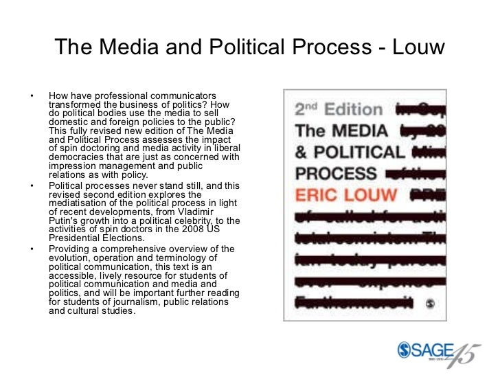The Media and Political Process - Louw <ul><li>How have professional communicators transformed the business of politics? H...