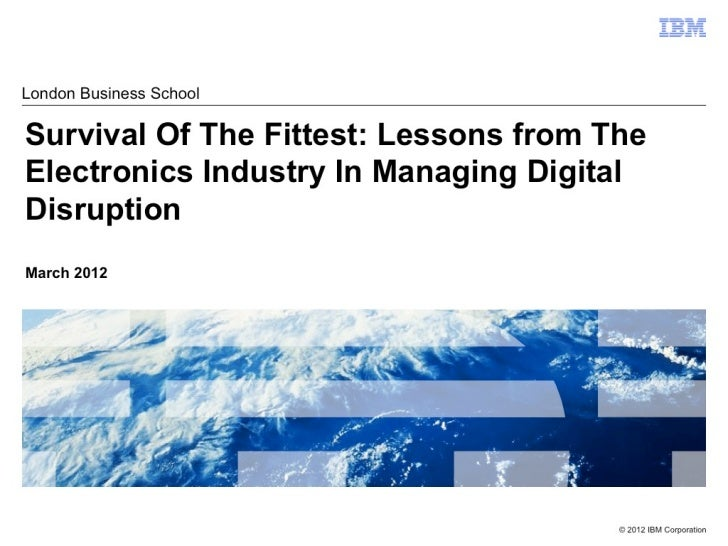 Lessons on Industry Disruption from the Electronics Industry
