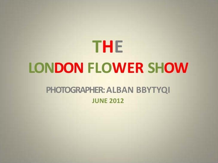 THELONDON FLOWER SHOW PHOTOGRAPHER: ALBAN BBYTYQI           JUNE 2012