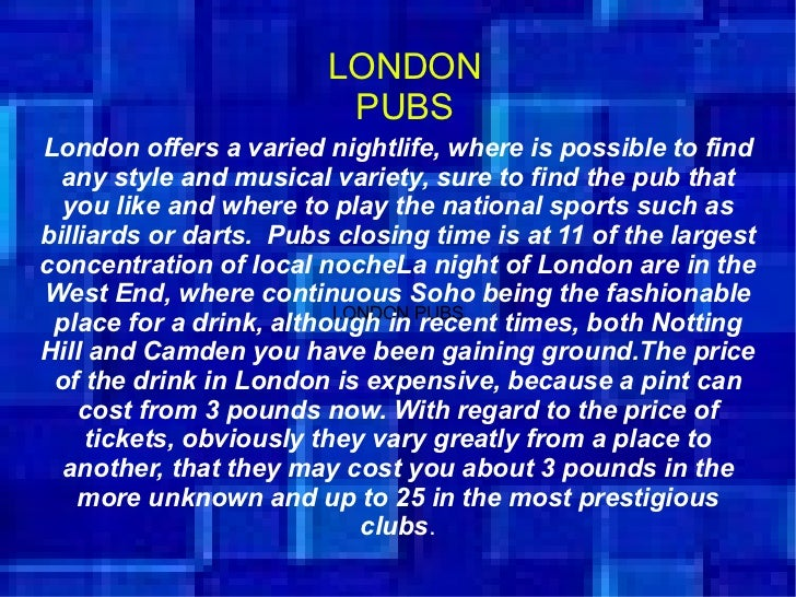 London football clubs, pubs, the soho Slide 3