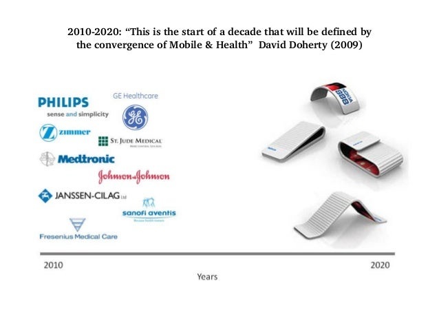 2010-2020: This decade will be defined by the convergence of Mobile & Health What I failed to predict: Sex would become th...