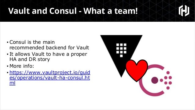Monitoring a Vault and Consul cluster - 24th May 2018 Slide 3