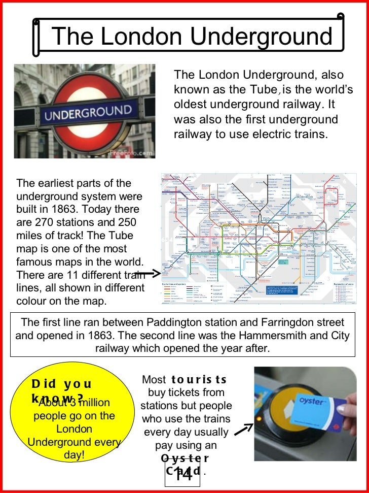 LONDON FACT SHEET