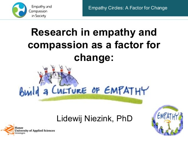 Empathy Circles: A Factor for Change Research in empathy andcompassion as a factor for        change:     Lidewij Niezink,...