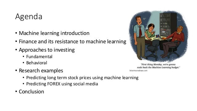 Machine learning forex prediction