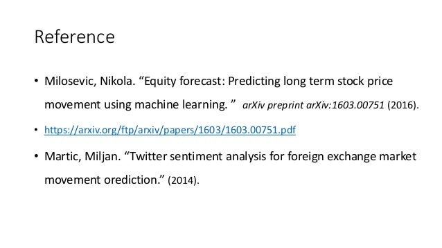 Machine Learning Prediction Of Stock Markets