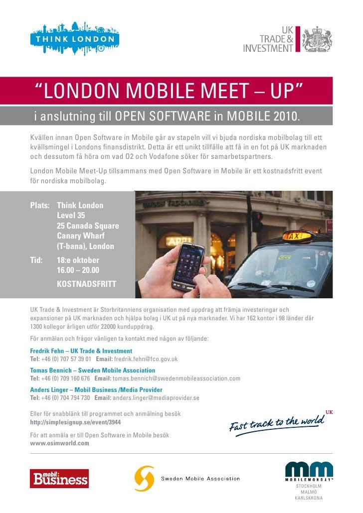 """""""LONDON MOBILE MEET – UP""""  i anslutning till OPEN SOFTWARE in MOBILE 2010. Kvällen innan Open Software in Mobile går av st..."""