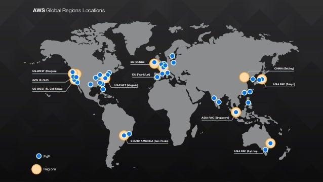 AWS Global Regions Locations US-WEST (Oregon) GOV CLOUD US-WEST (N. California) US-EAST (Virginia) EU (Dublin) EU (Frankfu...