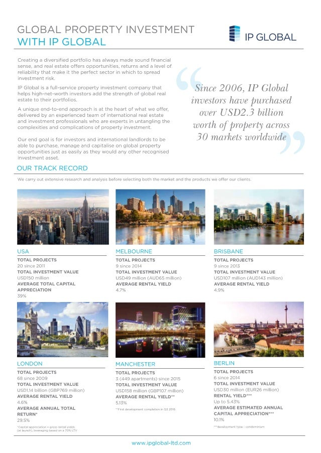 IP Global Off- Plan property invetsments 2016