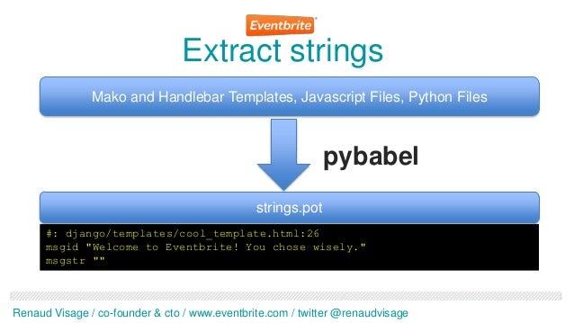 Extract strings               Mako and Handlebar Templates, Javascript Files, Python Files                                ...