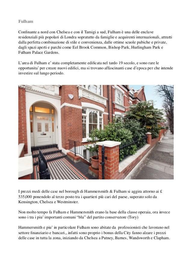Comprare casa a londra guida all 39 area di fulham sw6 - Comprare casa a londra brexit ...