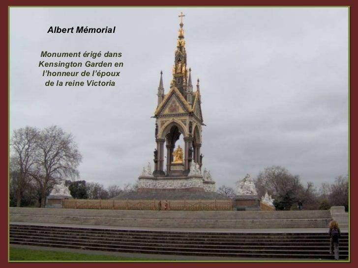 Albert Mémorial Monument érigé dans Kensington Garden en l'honneur de l'époux de la reine Victoria