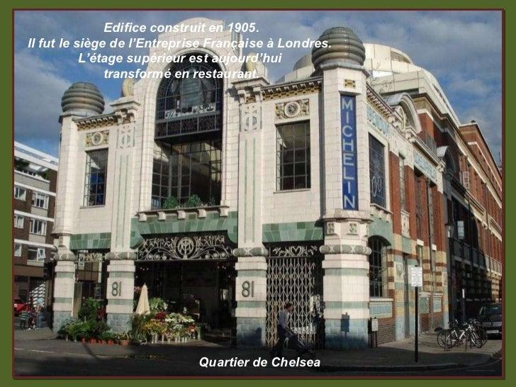 Quartier de Chelsea Edifice construit en 1905. Il fut le siège de l'Entreprise Française à Londres.  L'étage supérieur est...