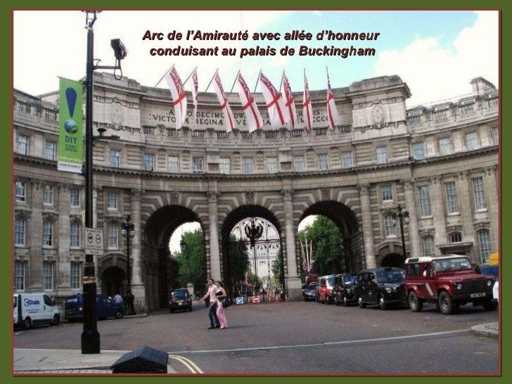 Arc de l'Amirauté avec allée d'honneur  conduisant au palais de Buckingham