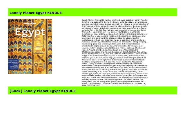 Lonely Planet Egypt Kindle