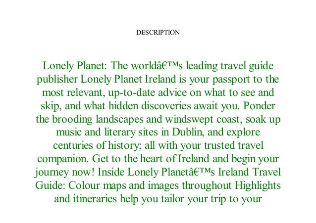 Pdf lonely planet ireland
