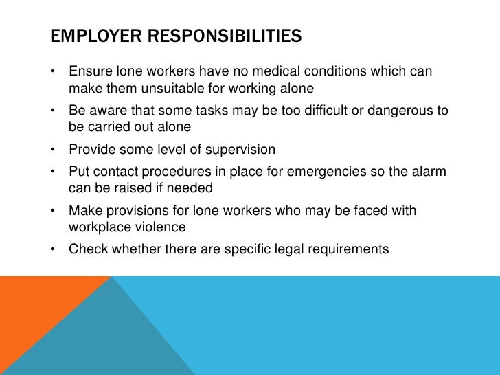 lone worker safety training