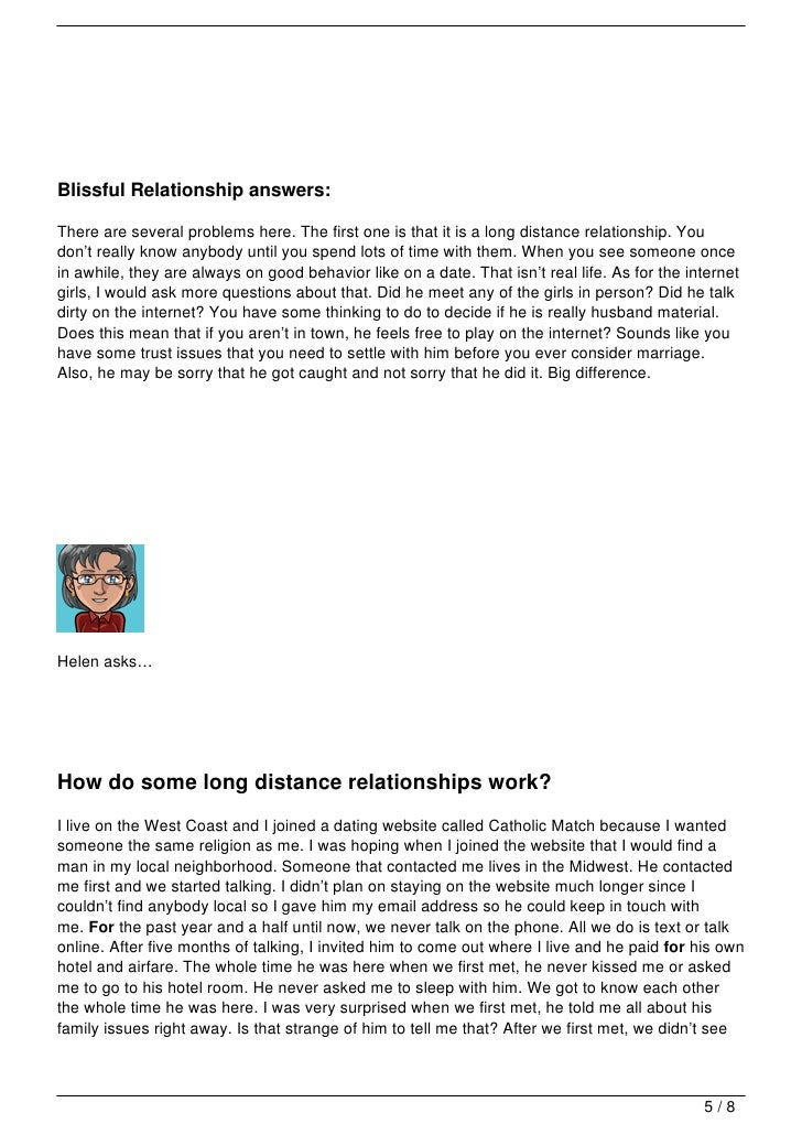 long distance relationship dating advice for women