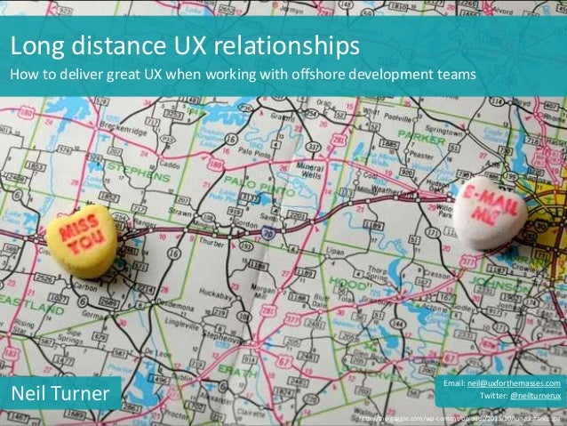 Long distance UX relationships How to deliver great UX when working with offshore development teams http://the-gaggle.com/...