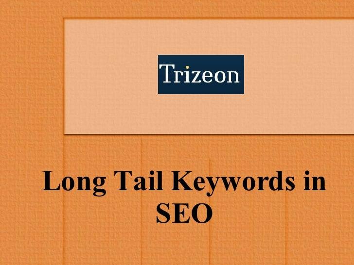 Long Tail Keywords in SEO
