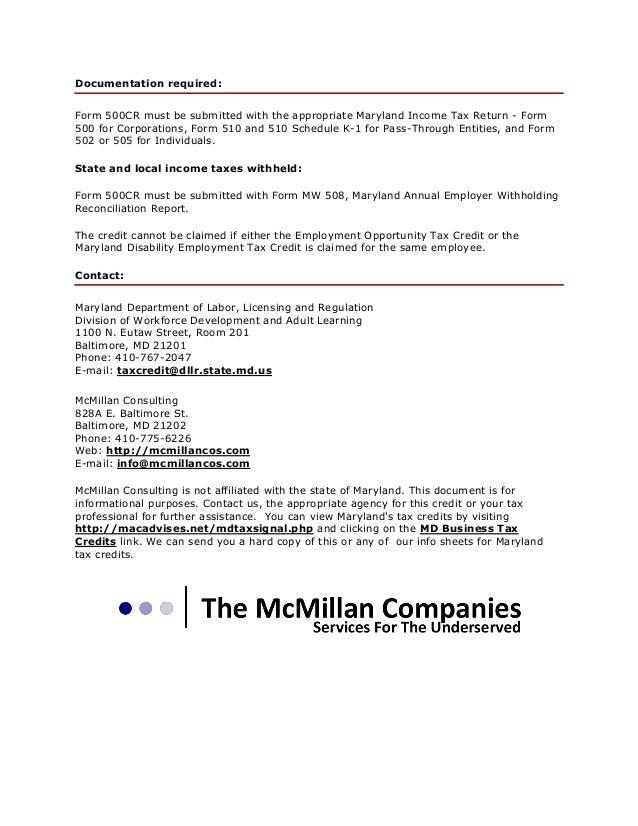 Long Term Employment Of Ex-Felons Tax Credit