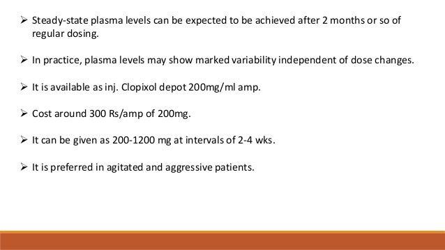 zuclopenthixol decanoate test dose