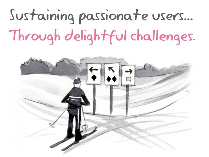Sustaining passionate users...Through delightful challenges.